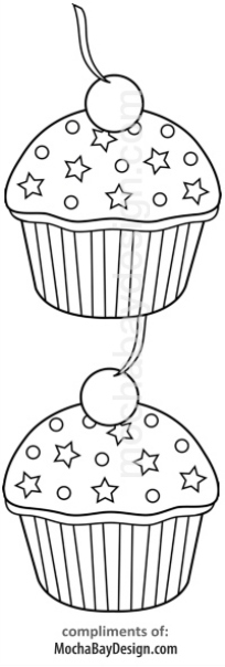 Print Cupcakes Coloring Page