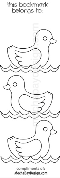 print coloring page - three swimming ducks