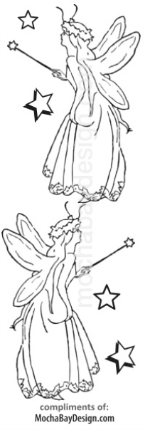 print coloring page - Fairy