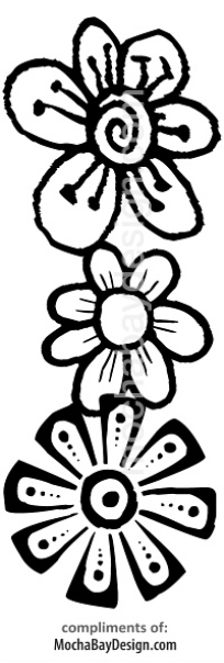 print coloring page - Flowers