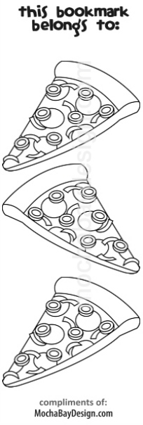 print coloring page - Pizza slices
