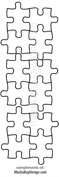 print coloring page - Puzzle pieces