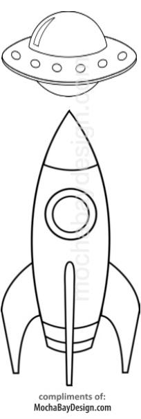 Print Rocket Coloring Page