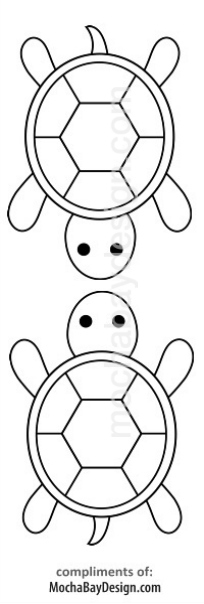 print coloring page - Turtles