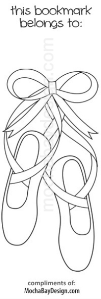 print coloring page: Ballet Slippers