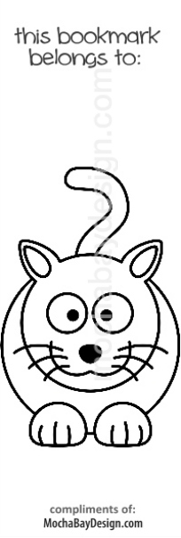 print coloring page - smiling cat