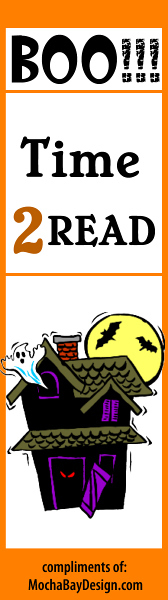view and print Haunted House Halloween bookmark