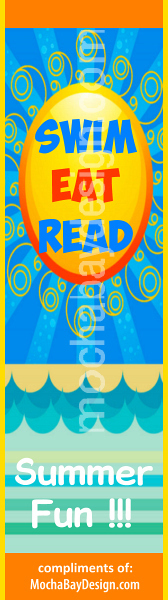 bookmark - Swim Eat Read - Summer Fun