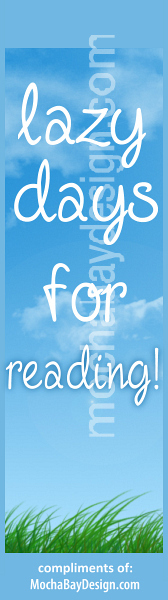 Lazy Days for Reading - print bookmark