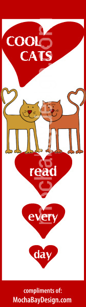 bookmark - Cool Cats Read Every Day