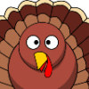 view and print Gobble Gobble Happy Turkey Day Thanksgiving coloring Bookmark