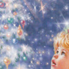 Child looking up at star with text: Believe in the Miracle of Christmas printable Christmas bookmark