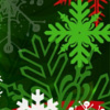 Christmas red, green and white multi snowflakes and text: Magical Memories printable Christmas bookmark