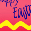 print Easter bookmark - primary colors egg