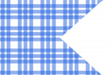 Blue Plaid Happy Flag