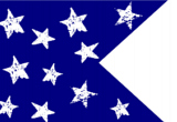 Blue with White Stars Happy Flag