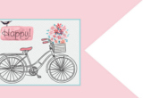 Pink Bicycle Happy Flag