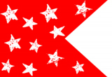 Red with White Stars Happy Flag
