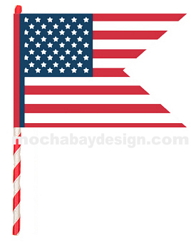 print Happy Flag of USA inspired flag