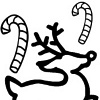 printable Reindeer and Candycanes Christmas Coloring bookmark
