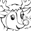 printable Rudolph Christmas Coloring bookmark