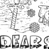 printable Dear Santa Letter coloring page
