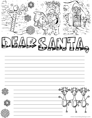 printable Letter to Santa for Kids to use during the Christmas holiday