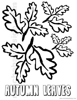 Autumn Leaves Printable Thanksgiving Kids Coloring Page