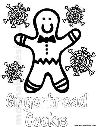printable christmas gingerbread man coloring page - Gingerbread Man Coloring Pages Printable