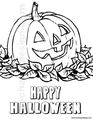 Halloween Pumpkin Coloring Pages For Kids kids coloring page