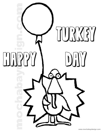Turkey Day Printable Thanksgiving Kids Coloring Page ...